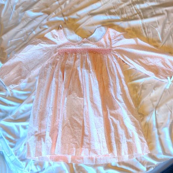 Smocked girls heart dress